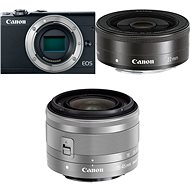 Canon EOS M100 Black + M15-45mm Silver + M22mm - Digital Camera