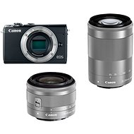 Canon EOS M100 Grey + M15-45mm Silver + M55-200mm Silver - Digital Camera
