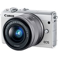Canon EOS M100 White + M15-45mm Silver - Digital Camera