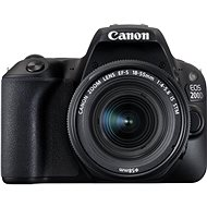 Canon EOS 200D Black + 18-55mm IS STM - DSLR Camera