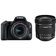 Canon EOS 200D Black + 18-55mm IS STM + 10-18mm IS STM - DSLR Camera