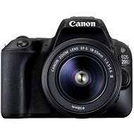 Canon EOS 200D black + 18-55mm DC III - DSLR Camera