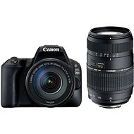 Canon EOS 200D Black + 18-55mm DC III + TAMRON 70-300mm - DSLR Camera