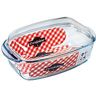 Ocuisine Glass Roasting Pan with Lid, 37 x 22cm - Roasting Pan
