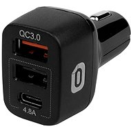 Odzu Car Charger With Quick Charger 3.0 Black - Car Charger