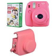 Fujifilm Instax Mini 9 Pink + 10x Photo Paper + Case - Instant Camera
