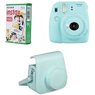 Fujifilm Instax Mini 9 Light Blue + 10x Photo Paper + Case - Instant Camera