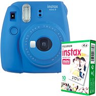 Fujifilm Instax Mini 9 Dark Blue + 10x Photo Paper - Instant Camera