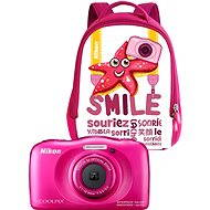 Nikon COOLPIX W100 pink backpack kit - Children's Camera