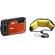 Nikon COOLPIX W300 orange + 2-in-1 Floating Strap - Digital Camera