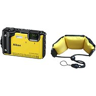 Nikon COOLPIX W300 Yellow + 2-in-1 Floating Strap - Digital Camera