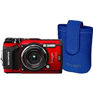 Olympus TOUGH TG-5 Red + Tough Neoprene Case - Digital Camera
