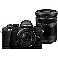 Olympus E-M10 Mark II Pancake Kit Black + ED 14-150mm R Black + ED 14-42mm Black - Digital Camera