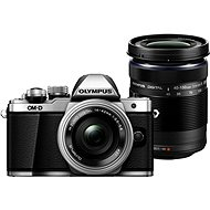 Olympus E-M10 Mark II Pancake Silver + ED 14-42EZ Silver + 40-150mm R Black - Digital Camera