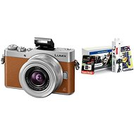 Panasonic LUMIX DMC-GX800 Brown + 12-32mm Lens + Alza Photo Starter Kit 32GB - Digital Camera