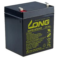 Long 12V 5Ah Lead Acid Battery HighRate F1 (WP5-12SHR F1) - Rechargeable Battery