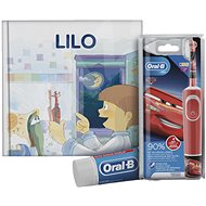 Oral-B Vitality Kids Cars + Oral-B Toothpaste + Book - Electric Toothbrush for Children