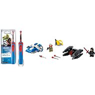 Oral-B Vitality Kids StarWars + LEGO Star Wars 75196 A-Wing vs. TIE Silencer Microfighters - Set