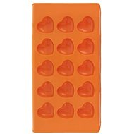 Silicone mold for chocolate HEART 15 - ORANGE - Mould