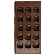 Silicone mold for chocolate HEART 15 - BROWN - Mould