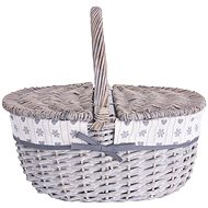 Orion Wicker Picnic Basket with Handle - Basket