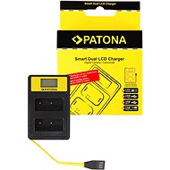 PATONA for Dual Fuji NP-W126 with LCD, USB - Battery Charger
