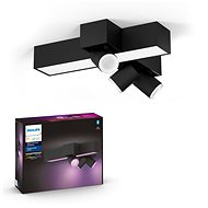 Philips Hue White and Color Ambiance Centris 3L Cross Ceiling Black 50608/30/P7 - Ceiling Light