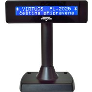 Virtuos LCD FL-2025MB 2x20 Black - Customer Display