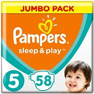 PAMPERS Sleep & Play size 5 Junior (58 pcs) - Baby Nappies