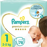 PAMPERS Premium Care size 1 Newborn (88 pcs) - Baby Nappies