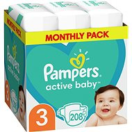 PAMPERS Active Baby-Dry Size 3 Midi (208 pcs) - a monthly pack - Baby Nappies