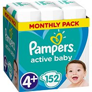 PAMPERS Active Baby-Dry size 4+ Maxi (152 pcs) - monthly pack - Baby Nappies