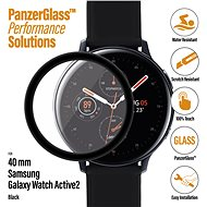 PanzerGlass SmartWatch for Samsung Galaxy Watch Active 2 (40mm) Black Adhesive - Glass protector