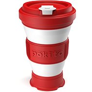 POKITO Collapsible Coffee Cup 3-in-1, Cherry - Mug