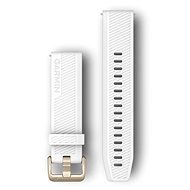 Garmin Quick Release 20 Silicone White (Gold Buckle) - Watch Band