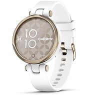 Garmin Lily Sport Cream Gold/White Silicone Band - Smartwatch
