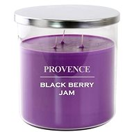 Provence candle in glass with lid 1000g, blackberry, 3knots - Candle