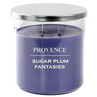 Provence candle in glass with lid 1000g, sugarplum, 3knots - Candle