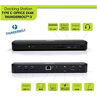 PORT CONNECT Docking Station 2x 4K Thunderbolt 3 - Docking Station
