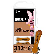 Duracell Hearing Aid - DA312 Duralock - Disposable batteries