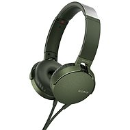 Sony MDR-XB550AP Green - Headphones with Mic