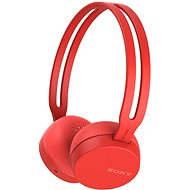 Sony WH-CH400 Red - Headphones with Mic