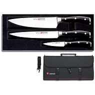 WÜSTHOF Classic Ikon Set 3pcs + Knife Pouch - Knife Set