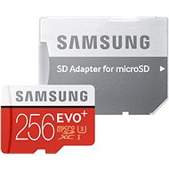Samsung MicroSDXC 256GB EVO Plus Class 10 UHS-I + SD Adapter - Memory Card