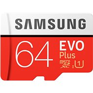 Samsung MicroSDXC 64GB EVO Plus + SD Adapter - Memory Card
