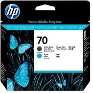 HP 70 Matte Black and Cyan Print Head (C9404A) - Print Head