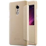 Nillkin Sparkle Series Leather Case for Xiaomi Redmi Note 4 Global Gold - Mobile Phone Case