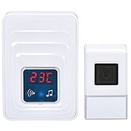 Solight wireless doorbell with thermometer, socket, 120m, white (1L57) - Doorbell