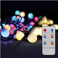 LED 2-in-1 outdoor Christmas Chain, Ball, Remote Control, 200LED, RGB+ White, 20m + 5m, 8 Functions, - Christmas Chain Lights