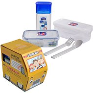 "Set of Containers + bottle ""school bus"" - Food Container Set"